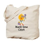 Mardi Gras Chick Tote Bag