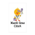 Mardi Gras Chick Rectangle Sticker 10 pk)