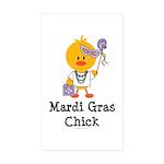 Mardi Gras Chick Rectangle Sticker 50 pk)