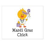 Mardi Gras Chick Small Poster