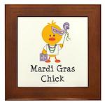Mardi Gras Chick Framed Tile