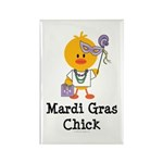 Mardi Gras Chick Rectangle Magnet (100 pack)