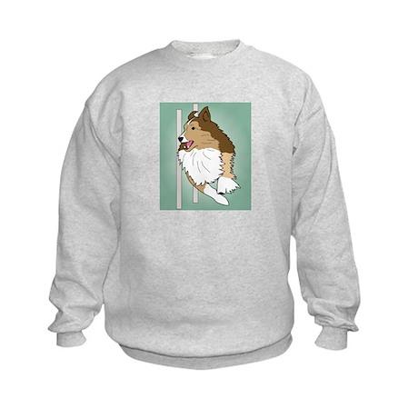Agility Sheltie Kids Sweatshirt