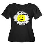 Fun & Games Women's Plus Size Scoop Neck Dark T-Sh