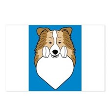 Obedience Sheltie Postcards (Package of 8)