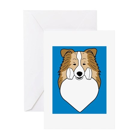Obedience Sheltie Greeting Card