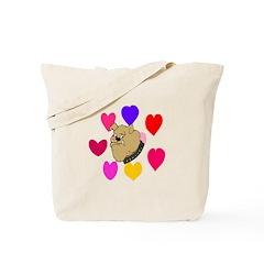 Valentine Dog 2 Tote Bag