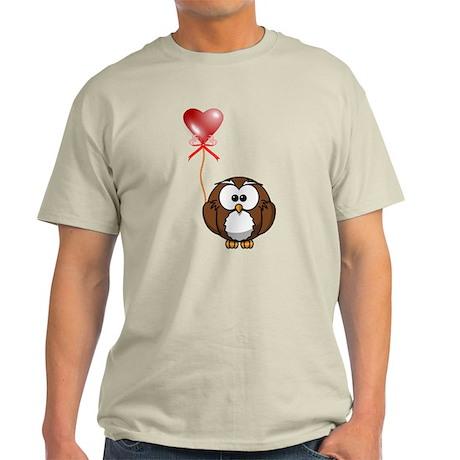 Valentine Owl Light T-Shirt