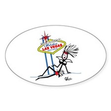 Welcome to Las Vegas Oval Decal