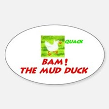 Mud Duck Oval Decal