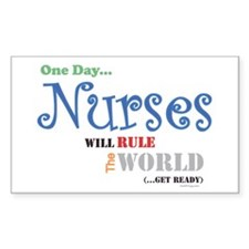 Nurses Will Rule The World Bumper Decal