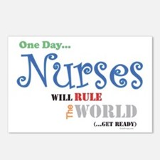 Nurses Will Rule The World Postcards (8 Pk)