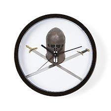 Swords Crossed Wall Clock