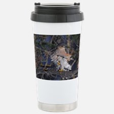 Sharp-Shinned Hawk Stainless Steel Travel Mug