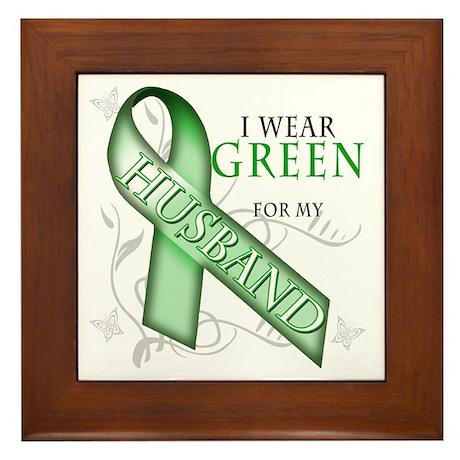 I Wear Green for my Husband Framed Tile