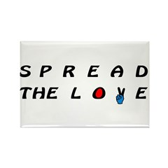 Spread the LOVE Peacefully on Rectangle Magnet