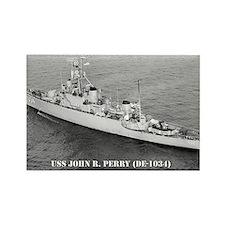 USS JOHN R. PERRY Rectangle Magnet