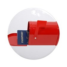 Travel by Mail Ornament (Round)