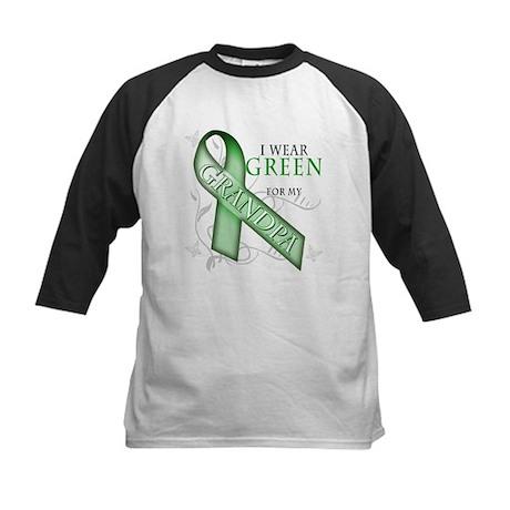 I Wear Green for my Grandpa Kids Baseball Jersey