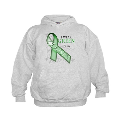 I Wear Green for my Cousin Kids Hoodie