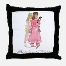 Clara and her nutcracker gift Throw Pillow