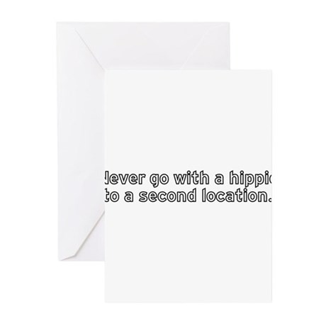 Hippie Location Greeting Cards (Pk of 10)