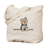 Yorkie tote bags Canvas Totes