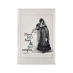 Jane Austen No Fears Rectangle Magnet