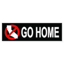 Californians, Go Home Bumper (black)