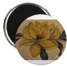 """Yellow Magnolia 2.25"""" Magnet (10 pack)"""
