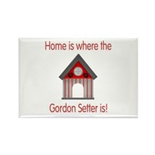 Home is where the Gordon Setter is Rectangle Magne