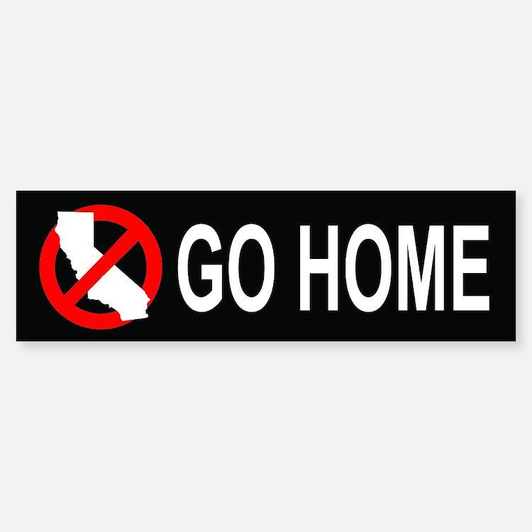 Californians, Go Home Bumper (10 pk)