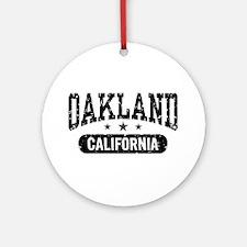 Oakland California Ornament (Round)