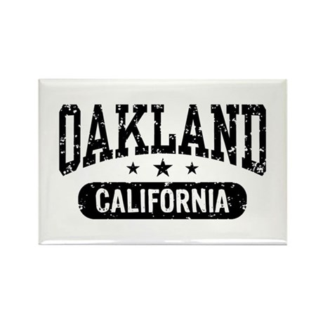 Oakland California Rectangle Magnet