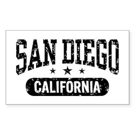San Diego California Rectangle Sticker