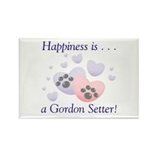 Happiness is...a Gordon Setter Rectangle Magnet (1