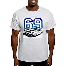 '69 Camaro in Blue T-Shirt
