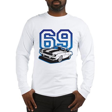 '69 Camaro in Blue Long Sleeve T-Shirt