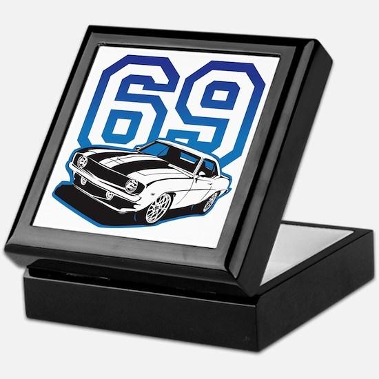 '69 Camaro in Blue Keepsake Box