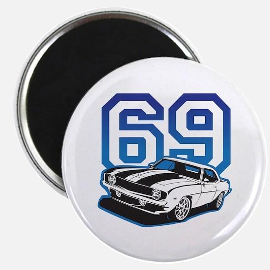 '69 Camaro in Blue Magnet