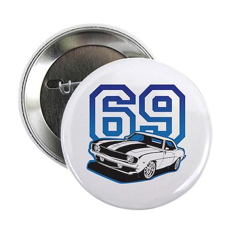 "'69 Camaro in Blue 2.25"" Button (100 pack)"