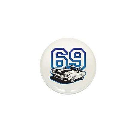 '69 Camaro in Blue Mini Button (100 pack)