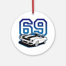'69 Camaro in Blue Ornament (Round)