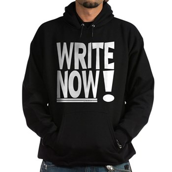 WRITE NOW! Hoodie (dark)