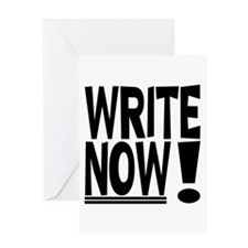 WRITE NOW! Greeting Card