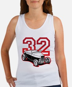 '32 Roadster in Red Women's Tank Top
