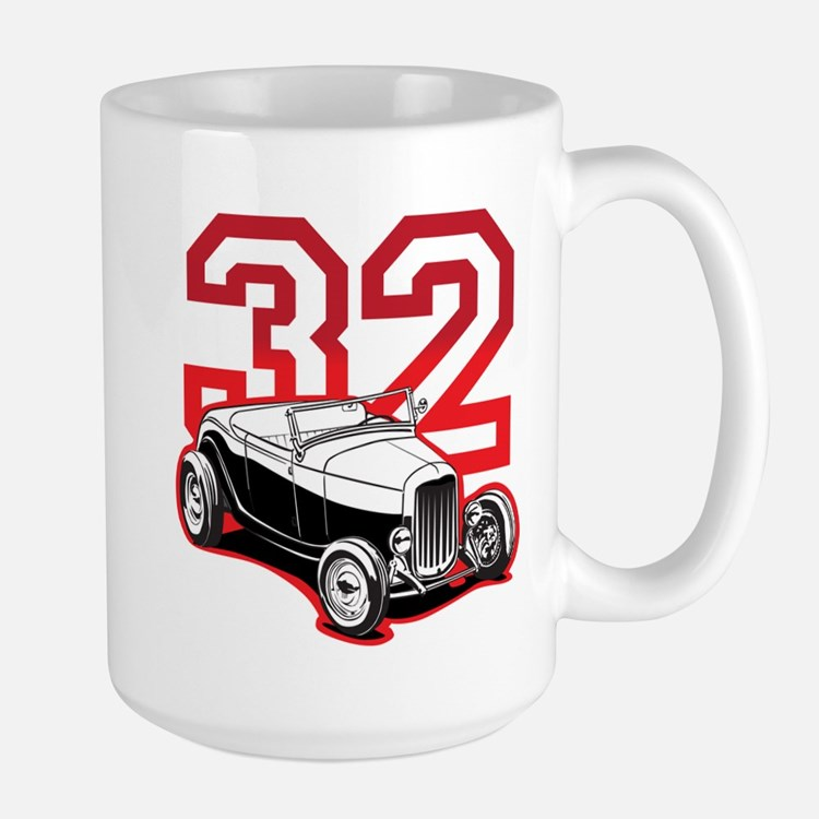 '32 Roadster in Red Large Mug