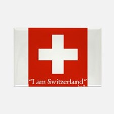 Cute I am switzerland Rectangle Magnet