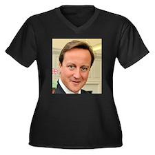 Cool Conservatives Women's Plus Size V-Neck Dark T-Shirt