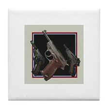 Cute Pistol Tile Coaster